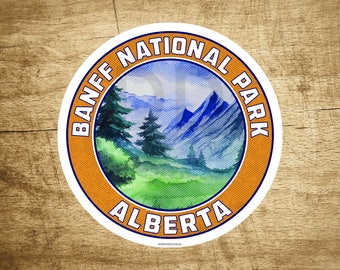 "Banff National Park Alberta Canada Sticker Decal 3"" x 3"""
