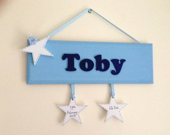 Personalised wooden door signs