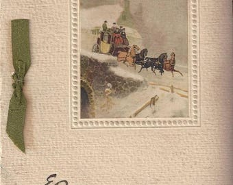 Vintage Christmas Greeting Card Made in England, 1920s
