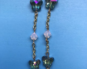 Crystal Butterfly Eyeglass Chain