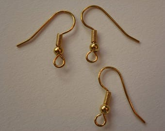 Gold Plated Fish Hook Ear Wires