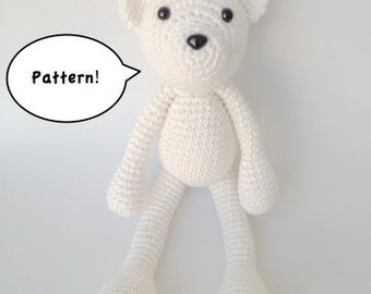 Amigurumi Free Patterns Bear : Crochet amigurumi teddy bear pattern amigurumi animal pdf
