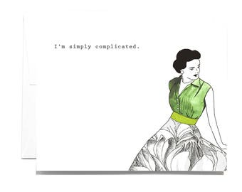 Simply complicated Note Card