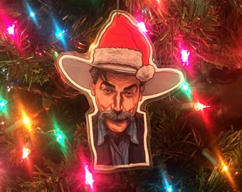 Sam Elliott The BIG LEBOWSKI Christmas ORNAMENT!