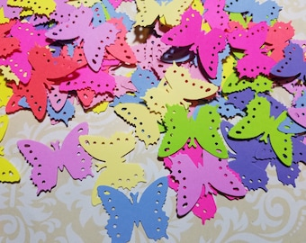 Die Punched Small Butterflies. Multi-colors.  #MO-38