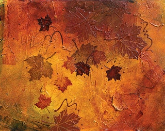 Abstract Acrylic || First Dance of Fall || Free Shipping
