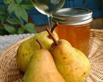 Chardonnay and Pear Jam, 8 oz jar,  Willamette Valley, Oregon, Pacific Northwest