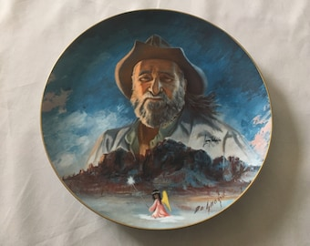 1983 Larry Toschik Painting Of De Grazia Limited Edition Collector Plate Numbered 204/15,000 Porcelain