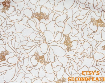 Gold Camellia - Brother Sister Studio - 100% Cotton - 1/2 yard - more for one cut