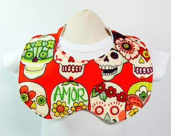 Scalloped Bib Baby Frida Khalo  READY TO SHIP