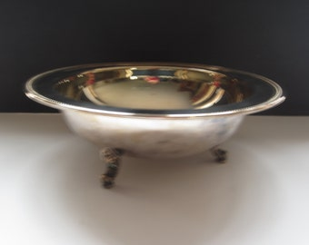 Vintage Silverplate Bowl with 3 feet