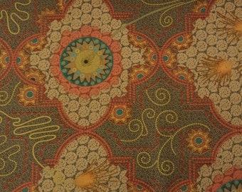 "OOP PWDB034 Dan Bennett Temple Mosaic Medallions Topaz Quilting 18"" BTHY Rowan Westminster Half Yard Quilt Sewing Cotton Fabric Retired New"