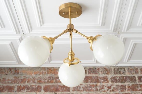 Semi Flush Globe Light