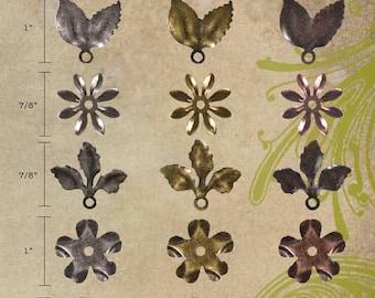 Craft Embellishments. Tim Holtz Idea-ology-Foliage embellishments- one pack