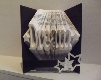 "Book Folding Pattern for ""Dream"" (with stars) + FREE TUTORIAL"