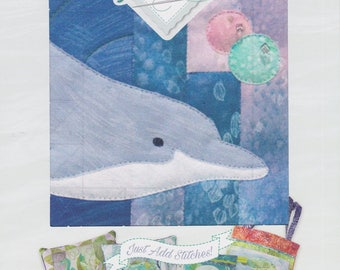 Tweedle Dee, Truly McKenna Art Fabric Panel Print by McKenna Ryan, Sea Breeze Series