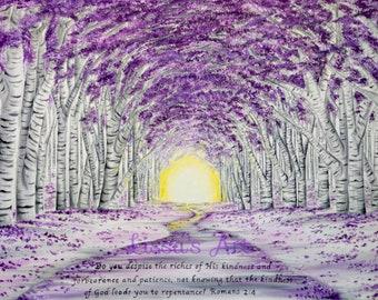 Purple Forest 11x14 Print