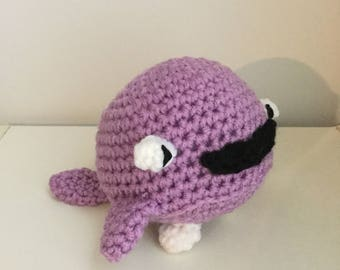 Made to Order: Crochet Amigurumi Cute Purple Whale Plush