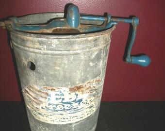 Vintage Galvanized Iceberg Freezer Manual Ice Cream Maker
