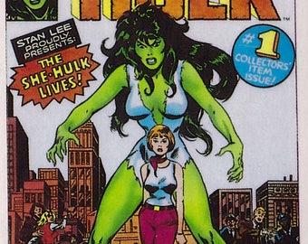 Marvel #1 She-Hulk Comic Card from 1984 FTCC