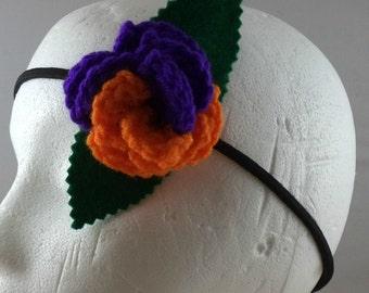 Crocheted Rose Headband - Villain (SWG-HH-VIJK02)