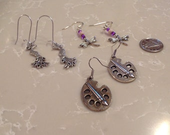 Handmade earrings trio