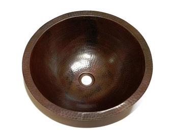 Yosemite Round Bathroom Copper Sink