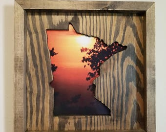 Minnesota Shadow Box Picture Frame
