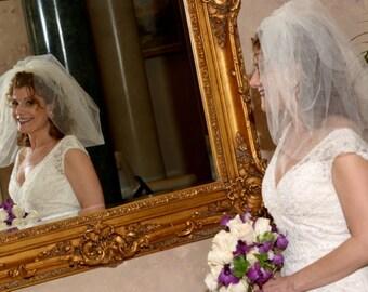 Wedding BUBBLE BRIDAL VEIL,  Short Wedding Veil, Puffy Bridal Veil, Bouffant Veil, Short Veil, Small Bridal veil, ivory wedding Veil,  veils