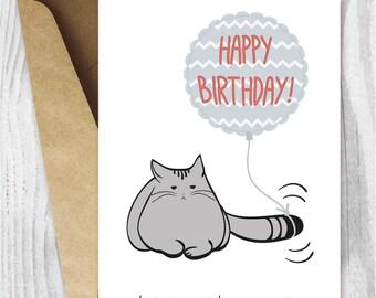Funny 50th Birthday Cards Printable Cat 50 Birthday Card