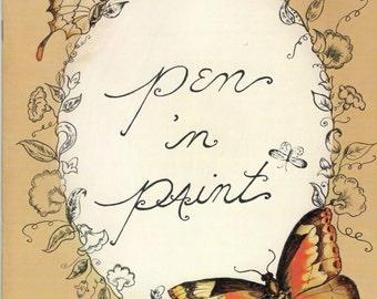 Pen 'n Paint, Paperback by Jan Tickner, Houston Art & Frame, 1976