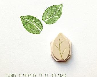 Wedding Tree Guest Book - Hand Carved LEAF STAMP