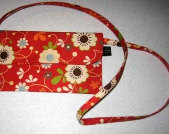 Messenger Pouch in Freebird fabric Floral by Designer Momo - Ready to ship - SALE