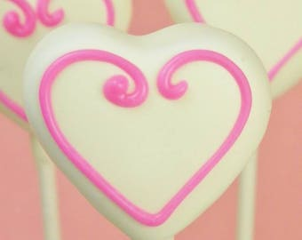 Heart Valentine's Day Cake Pops