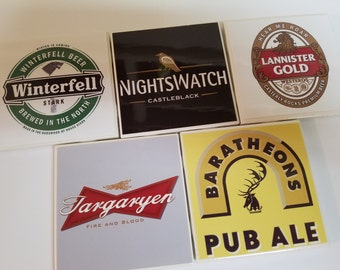 Baratheon, Nightswatch, Winterfell, Targaryen, Lannister, Game of Thrones Coasters, Black Friday, Cyber Monday,Boxing Day, Housewarming Gift