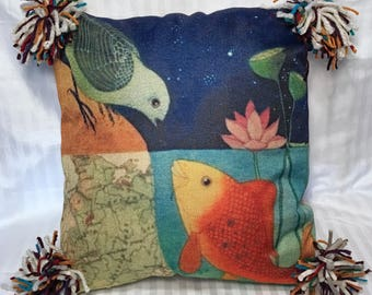 Hello, Friend! Punky Pillow Cover