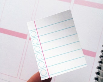 Planner Stickers Erin Condren Life Planner (ECLP) - 10 Full Box Notebook Paper Stickers (#4011)