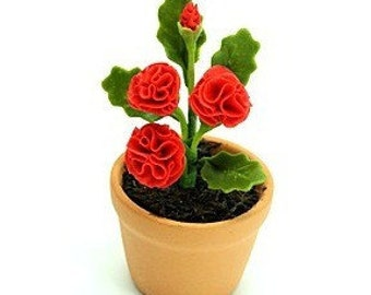 Miniature Polymer Clay Flowers Supplies for Dollhouse and Handmade Gifts Carnation