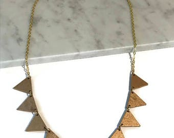 Banner Necklace   Triangle banner necklace   Gold necklace   Bunting, trending