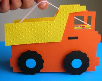 Dump Truck Birthday Party Favor