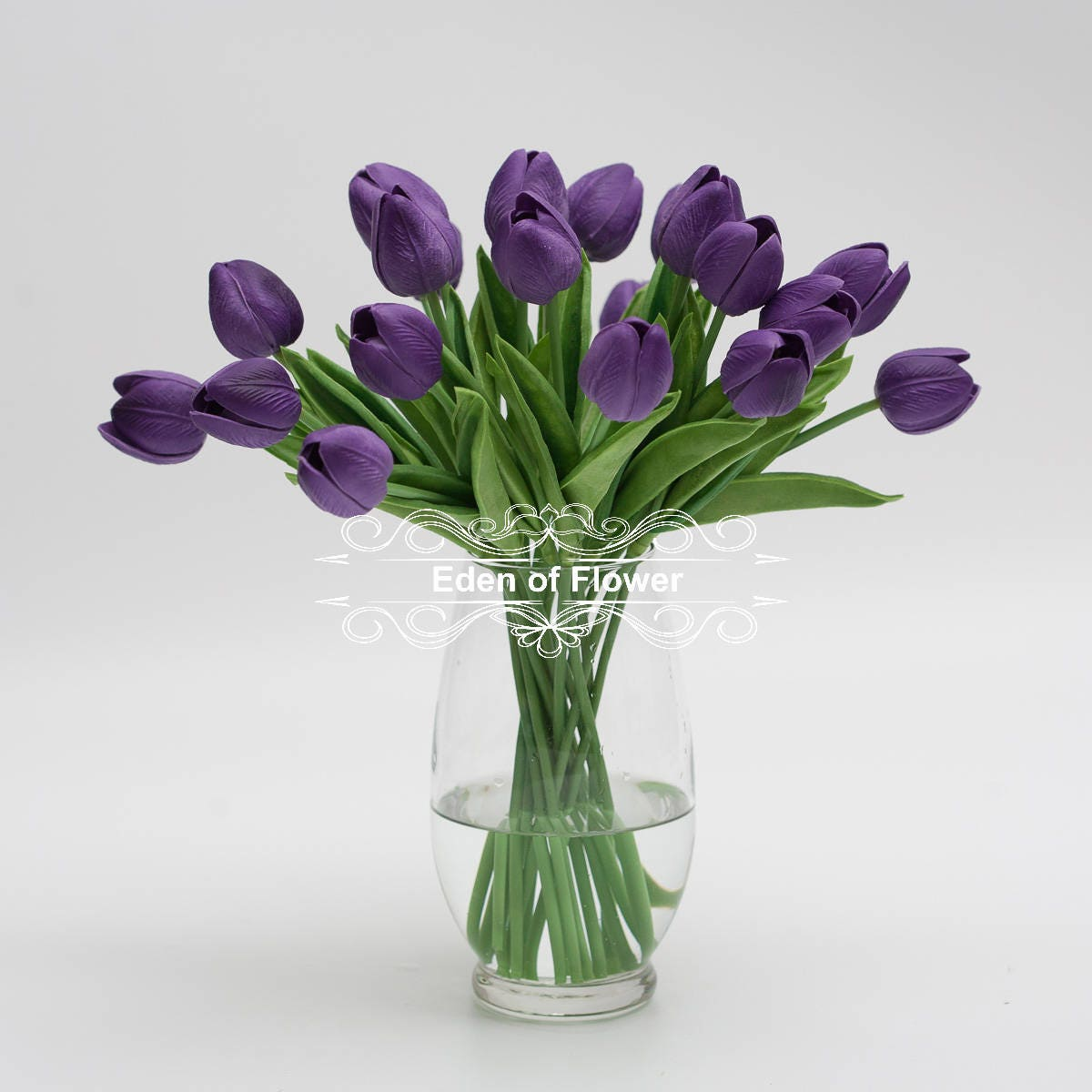 Real Touch Purple Tulip Bouquets for Bridal Bouquets Wedding ...