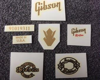 Gibson Guitar decals custom Set
