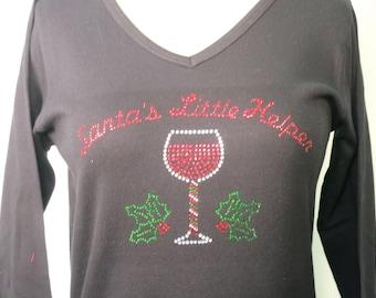 Santa's Little Helper - Rhinestone Shirt
