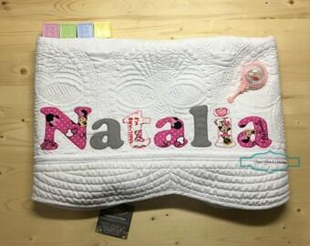 Disney new baby gift etsy personalized baby quilt personalized baby gift monogrammed quilt baby shower gift baby negle Choice Image