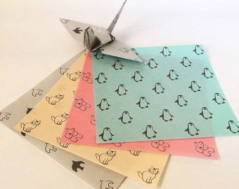 Origami Paper Sheets -Animals - 48 Sheets