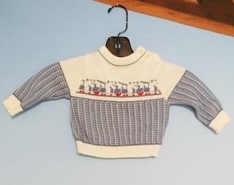 Choo Choo Train Baby Sweater