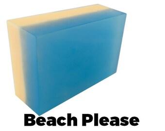 Beach Please - Handmade Soap Bar (beachy scent) //vegan, made in Canada//