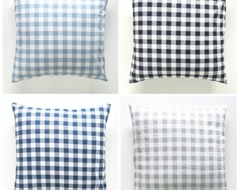 Plaid Collection. Pillow Covers. Decorative Pillow. Gingham Pillows. Plaid Pillows. Buffalo Check Throw Pillow Cover.