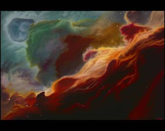 "Space Nebula Original Oil Painting: ""Stardust"""