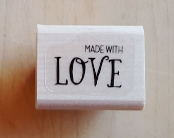 Made with Love Rubber Stamp retired from Stampin Up!